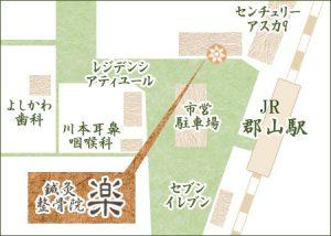 郡山院地図